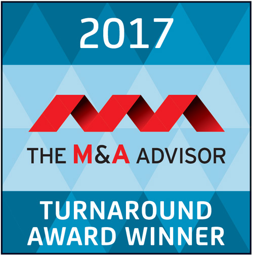 2017 The M&A Advisor Turnaround Award Winner
