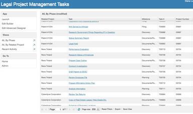 Legal Project Management Screenshot