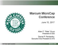 Marcum MicroCap Conference