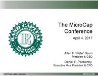 The MicroCap Conference Presentation
