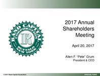 2017 Annual Shareholders Meeting