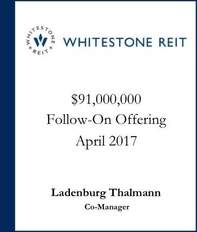 Whitestone REIT