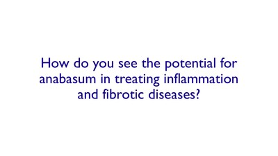 How do you see the potential for resunab in treating inflammation and fibrotic diseases