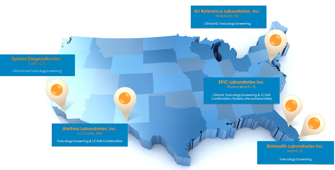 Laboratory Locations  Rennova Health Inc RNVA - Florida map testing