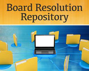 Board Resolution Repository