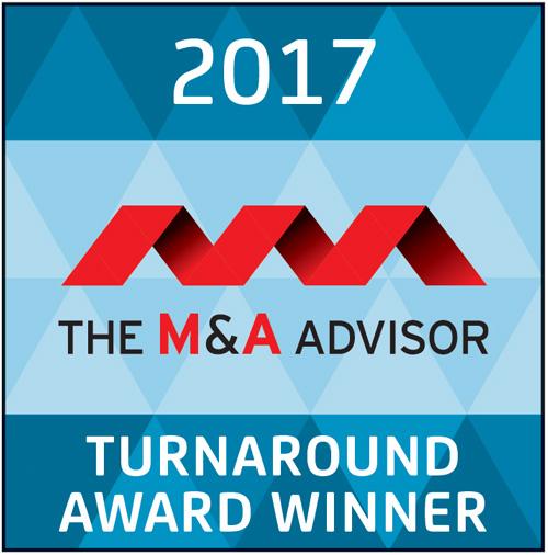 2017 The M&A Advisor Turnaround Award Winner