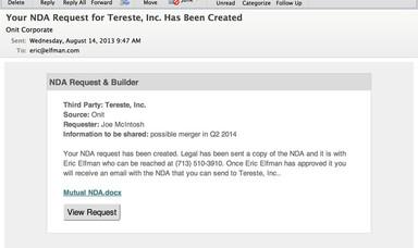 NDA Request Screenshot