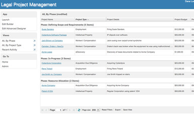 Legal Project Management Screenshot