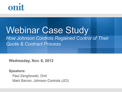 How Johnson Controls Regained Control of Their Quote & Contract Process
