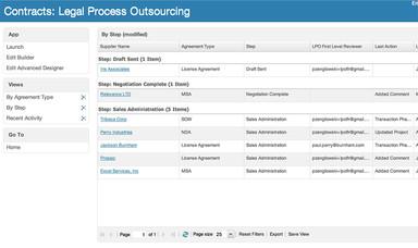 Legal Process Outsourcing Screenshot