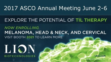 2017 ASCO Annual Meeting June 2-6. Explore the potential of TIL Therapy. Now enrolling.
