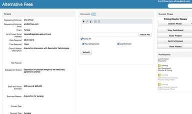 Alternative Fee Arrangements Screenshot