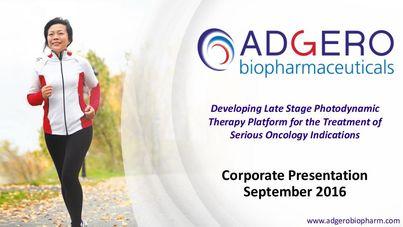 Adgero Biopharmaceuticals Holdings, Inc. Presentation