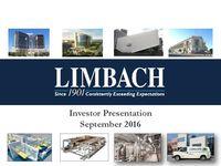 Investor Presentation, September 2016