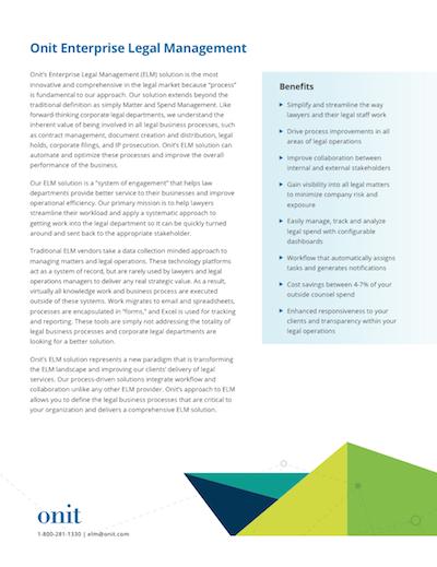 Onit Enterprise Legal Management
