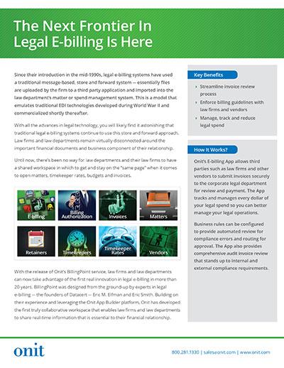 Onit E-billing