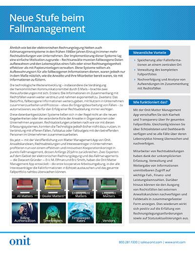 Onit Matter Management