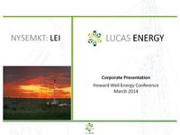 Howard Weil Annual Energy Conference Presentation