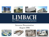 Investor Presentation, August 2016