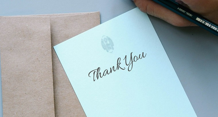 Should You Write a Thank You Letter?